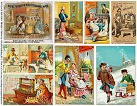 Travel Journaling Spot, CARD Stickers, 1 Sheet, 8 Junk Journal & Collage Art