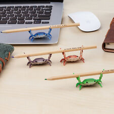 Creative Cute Crab Pen Holder Weightlifting Crabs Penholder Bracket Storage R`