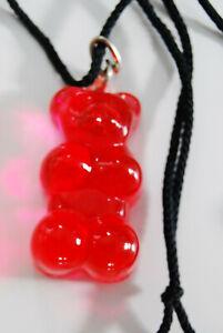 Glas Gummibärchen Anhänger in Rot  Rarität  4,5 cm