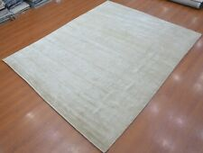8'x10' Rug |  Hand-Woven Prime Solid Pattern Cut Gray Color Solids Viscose Area