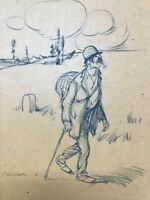 Dessin Crayon Personnage Clochard Antique Painting Drawing a identifier