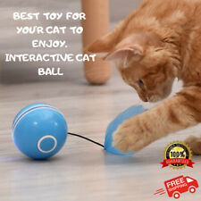 Cat Toy Self Rotating Ball Interactive Automatic Rotation Ball Feather Toy LED