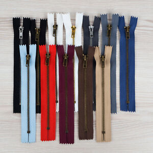 Spirale Kunststoff Schwarz 30 cm nicht teilbar Reißverschluss Baumwollgemisch