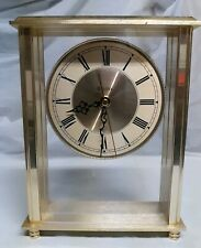 BULOVA Mantel, Shelf Or Table Quartz Bright Brass Clock (NO Pendulum)