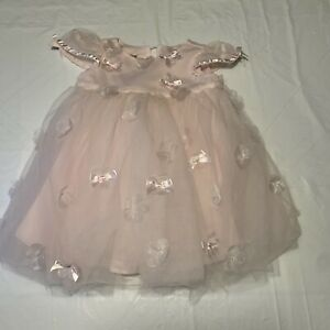 Baby Biscotti Pink Tulle Bubble Party Formal Dress Girls Size 9 Months