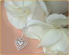 Echtschmuck-Halsketten & -Anhänger aus Weißgold mit Herz-Schliffform für Damen