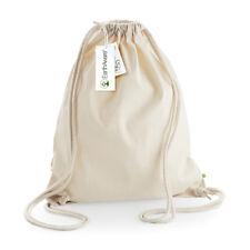 Westford Mill Wm810 EarthAware Organic Gymsac Drawstring Backpack Bag for Life Natural