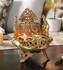 Brass Urli Floating Flower Pot Stand Elephant Decorative Ornament Home Decor