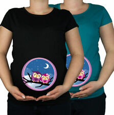 Magliette a manica corta in cotone nero per la maternità