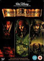 PIRATES OF THE CARIBBEAN Three Movie Collection DVD Box Set GA