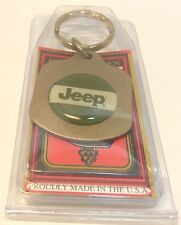 Car Dealership Logo Keychain ~ JEEP ~ Ancien Porte-Cle Flambant Neuf ~ USA ~ NWT
