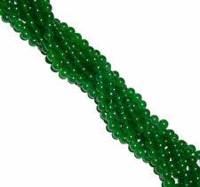 "8mm Jade Dyed Malichite Green Round Beads 40 cm 15"" Gemstone"