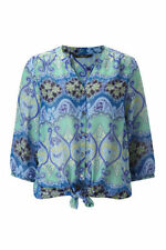 Paisley 3/4 Sleeve Hand-wash Only Casual Tops for Women