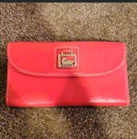Dooney & Bourke Pebble Leather Wallet Pink