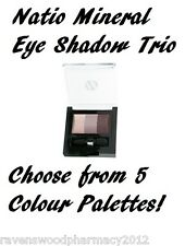 Natio MINERAL Eye Shadow Eyeshadow Trio 6g ::NEW - 5 COLOURS TO CHOOSE FROM::