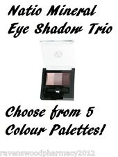 Natio Mineral Eyeshadow Trio 6g - Bluebird
