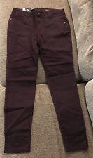 Simply Vera VeraWang Women's Skinny Mid Rise Dark Purple Jeans Size 6 NWT