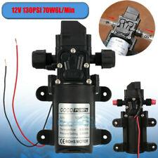 130psi High Pressure Rv Water Pump Diaphragm Dc 12v Max Self Priming 70w