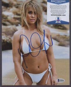 Z45945 Paige Van Zant MMA Signed 8x10 Photo AUTO Autograph Beckett BAS COA