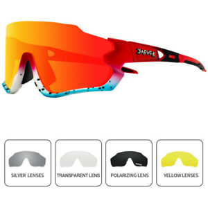 5 Lenses Unisex Polarized Cycling Glasses Eyewear Bike Goggles Sports Sunglasses