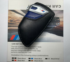 Genuine Style Leather Blue M Key Holder Cover Case For BMW X1 X3 X5 X6 M F15 F16