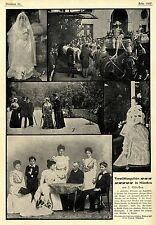Marriage ceremony in Munich Prince Albert of Belgium & PRINCESS ELISABETH 1900