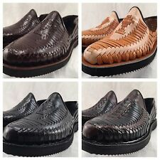 MENS MEXICAN MADE LEATHER SHOE HUARACHE SANDALS ALL SIZES