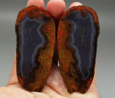 A Pair Rough(Unpolished) Agate/Achat Nodule Specimen Xuanhua Hebei China  XH-088