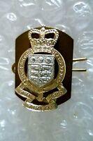 Staybrite-Royal Army Ordnance Corps Regimental collar Badge, QC (A/A 100%ORG)