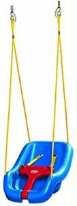 Swing Outdoor Kids Little Toddler Tikes Child Play Blue Seat Set Playground New