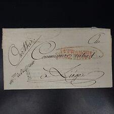 """1798 LETTRE COVER MARQUE POSTALE """"MTRE DE L'INTERIEUR"""" + """"AFFRANCHI PAR L'ETAT"""""""