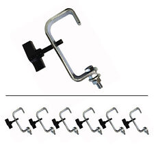 6 x Hook G Clamp Bracket Steel 50mm Disco DJ Stage Theatre Lighting Truss