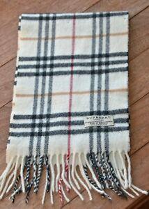 Burberry scarf merino wool cashmere blend check nova short