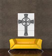 Poster Imprimé Peinture croix celtique tattoo design motif insert ornée seb951