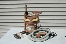 Rare Vtg 1967 Pink Filter Queen Canister Vacuum Cleaner Hose Attachments Working
