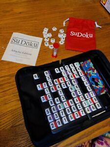 Sudoku Attache Edition Travel Game 100 Puzzles Easy Storage Pressman Ages 8+