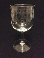 Cristal de Meisenthal H ± 13,3cm verre à vin gravé fin XIX début XXe
