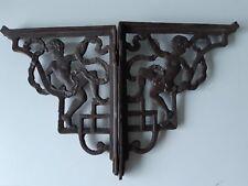 Pair of Antique 1896  Victorian cast iron Cherub Shelf Cistern Brackets