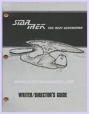 "Star Trek: Next Generation ""WRITER/DIRECTOR'S GUIDE"" Vintage MANUAL from 1987!"