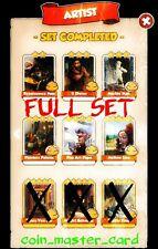 Coin Master Artist Full Set ( Pop Art, Lisa, Painters Palette ... ) 6x Card