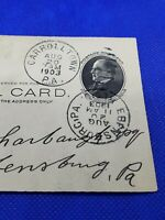 1903 #UX18 Ebensburg PA Carroltown PA Double Postmark US POSTAL CARD