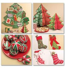 McCall's 5778 Sewing Pattern to MAKE  Fabric Christmas Decorations & Stockings