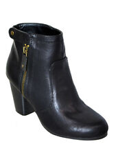 New Womens Zipper Ankle Booties Boots Qupid Black Size 7.5