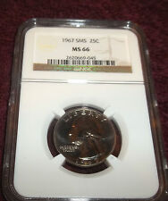 1967 SMS NGC MS66 QUARTER  GORGEOUS PROOF LIKE COIN