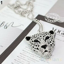Grail Fashion Retro Vintage Hollow Leopard Head Pendant Necklace Nice Gift B57U