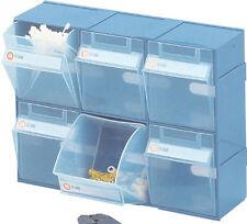 Parts Organiser Tidy Bins Small item sorter Storer Block of 6 Bins Tilt Free 306