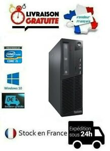 UNITÉ CENTRALE/ORDINATEUR LENOVO M71E HDD SSD WIFI I5 4Go/8Go/16Go WINDOWS 10