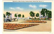 Pelham Bay Park Bronx NYC NY-APPROACH TO MAIN PAVILION-ORCHARD BEACH-Postcard