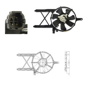 Condenser Cooling  Fan Assembly Fits: 2008 - 2012 Nissan Pathfinder V6 4.0L ONLY