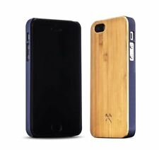 Woodcessories Handcrafted Case for Apple iPhone case 5 / 5S / SE BAMBOO/BLUE NEW